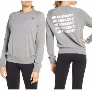 NWT Spiritual Gangster be present grey sweatshirt